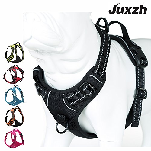 JUXZH reflective harness with handle attachments