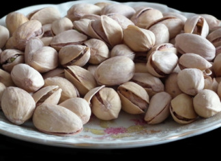 Pistachios on a plate